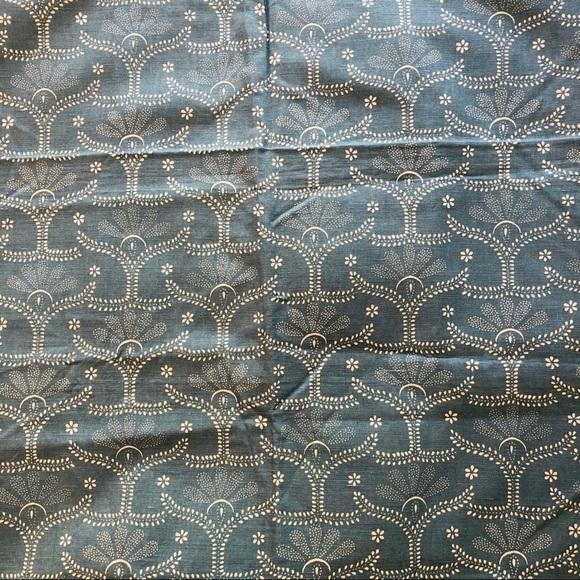 Vintage linen cotton fabric piece